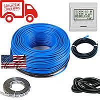 Нагревательный кабель для теплого пола HeatTech (США) HTCBL 400 Вт 20м. С программируемым терморегулятором
