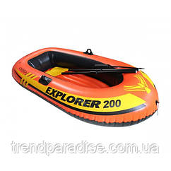 Лодка Intex EXPLORER 58331, весла, насос, 185х94х41см
