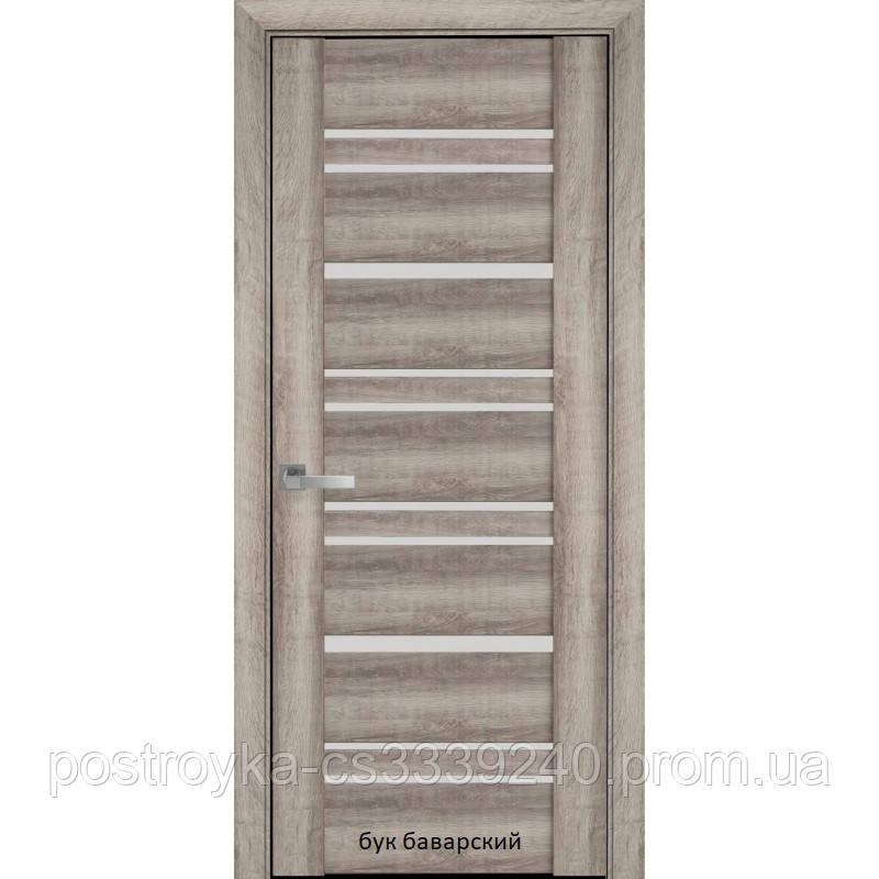 Двери межкомнатные Вива Валенсия Новый Стиль ПВХ со стеклом сатин 60, 70, 80, 90