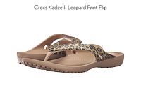 Шлёпанцы Crocs Kadee Leopard Print Flip-Flop размер 33, фото 1