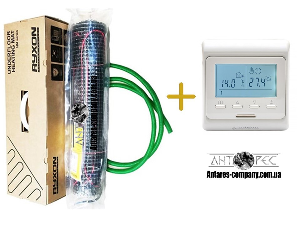 Мат для обогрева пола Ryxon серия НМ (200 вт. м2) (7м2)комплекти с програматором E-51 Премиум (Р) KIT (6412)