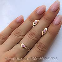 Срібні прикраси з золотими напайками та фіанітами