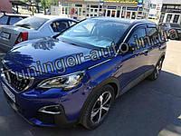 Дефлекторы окон (ветровики) Peugeot 3008 2017-2021 (Hic), фото 1