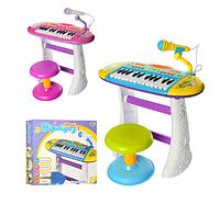 Детское пианино-синтезатор  со стульчиком