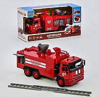 Машинка металлопластик пожарная детская (звук, свет, вода льется, люк закрывается)