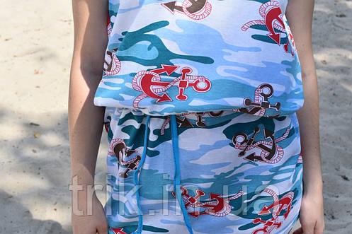 Туника хлопковая с морским рисунком, фото 2