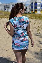 Туника хлопковая с морским рисунком, фото 3