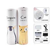 Пенал с кодовым замком и калькулятором Кот и Пингвин Newmebox многофункциональный пластиковый 67*187mm