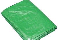 Тент тарпаулин ПВХ покрытие 3х4 м, плотность  120 г/м, зелено-белый