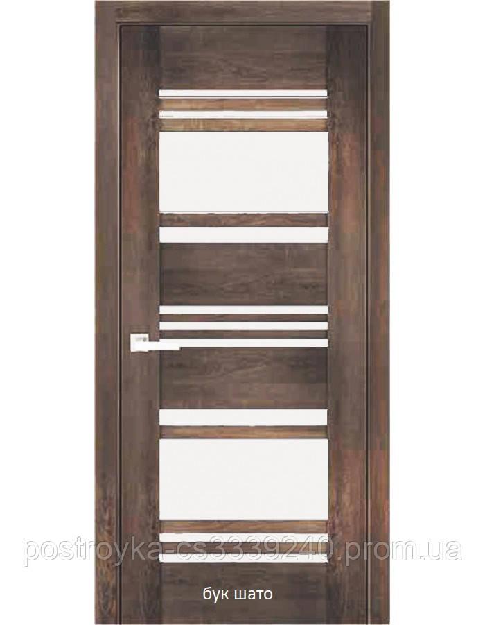 Двери межкомнатные Вива Ницца Новый Стиль ПВХ со стеклом сатин 60, 70, 80, 90