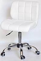 Кресло Soho (Сохо) эк белый CH-Office на хромированной базе на колесах, код 10443