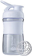 Шейкер Blender Bottle SportMixer MINI WHITE (591 мл.) - МИНИ Белый
