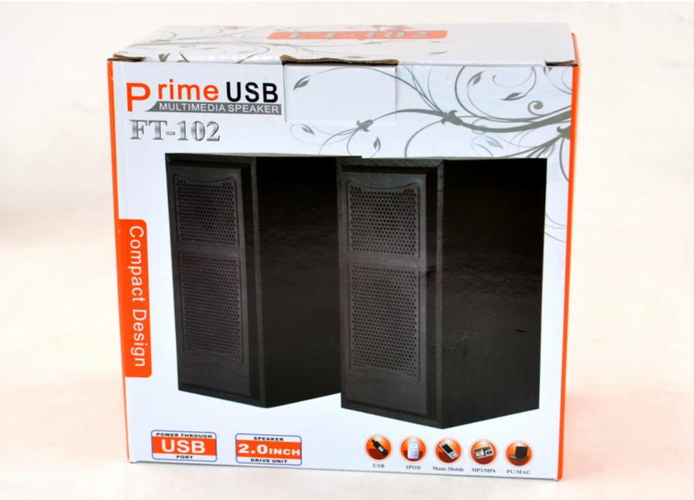 Компактные и Мощные колонки для ПК и для ноутбука с дополнительным выходом jack 3.5 FT-102. Лучшая Цена!