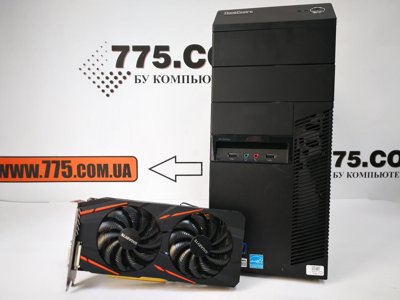 Игровой компьютер Lenovo M91P, Intel Core i5-2400 3.4GHz, RAM 8ГБ, SSD 120ГБ, HDD 500ГБ, Radeon RX 570 4GB
