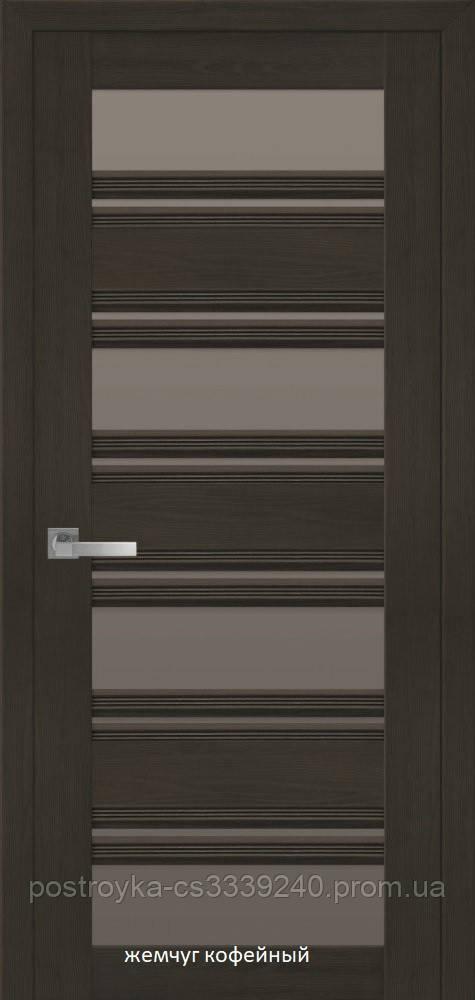Двері міжкімнатні Італійсько Венеція С2 Новий Стиль ПВХ зі склом бронза 60, 70, 80, 90