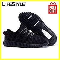 Кроссовки Adidas Yeezy Boost 350 Черные  (37-41 р.) + Наушники Apple