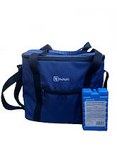 Термосумка 30 л, сумка-холодильник для рыбалки, охоты, на природу с аккумулятором холода в комплекте