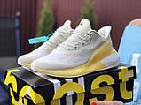 Женские модные кроссовки Adidas Alphaboost,бежевые с желтым, фото 2