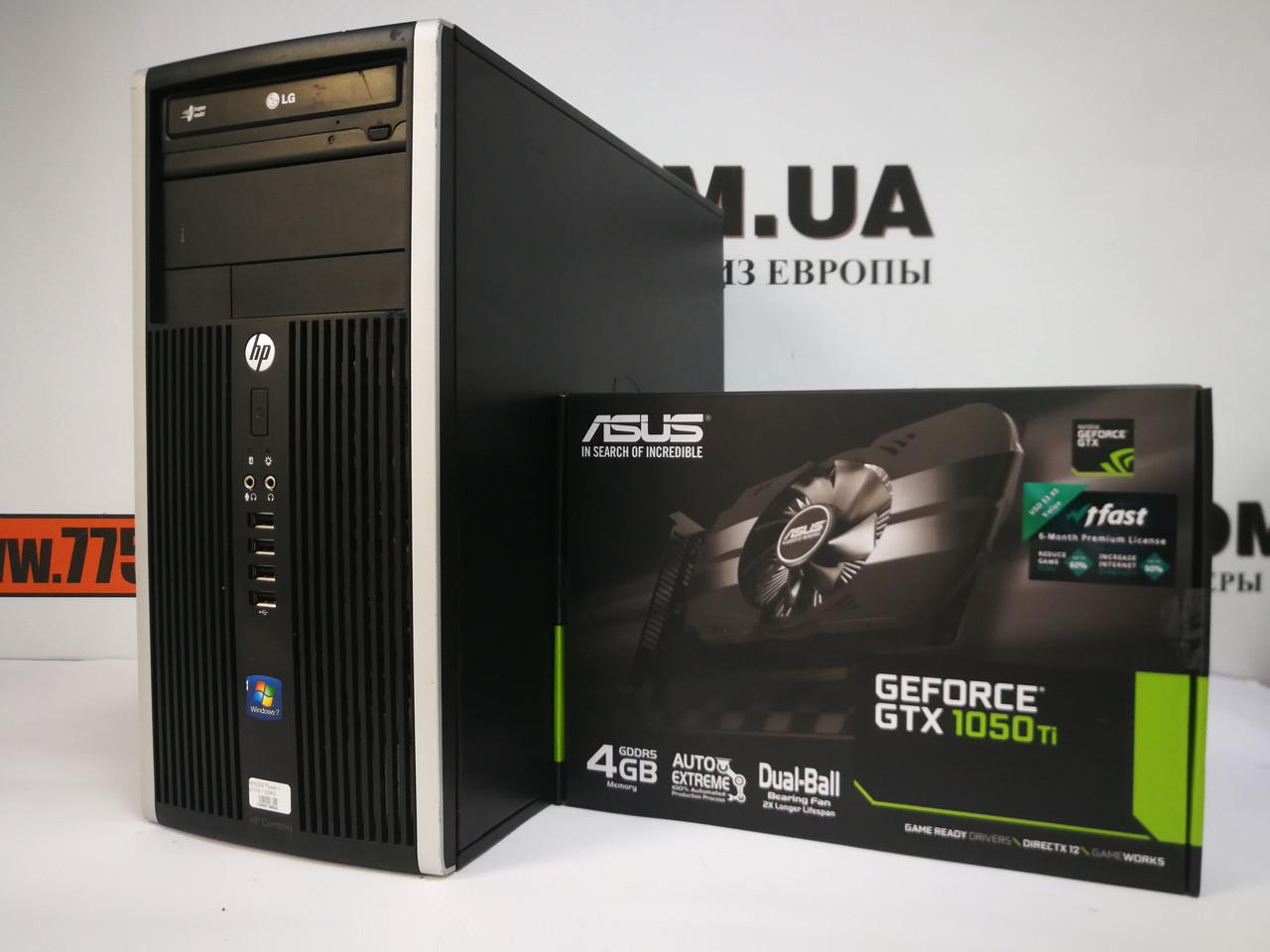 Игровой компьютер HP 6200, Intel Core i5-2500 3.7GHz, RAM 8ГБ, SSD 120ГБ, HDD 500ГБ, Nvidia GTX 1050Ti 4GB New