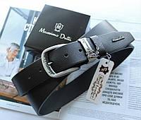 Кожаный ремень Massimo Dutti черный, фото 1