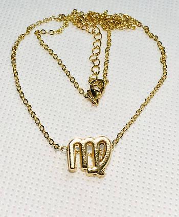 Колье Primo с подвеской знак зодиака Virgo (Дева) - Gold