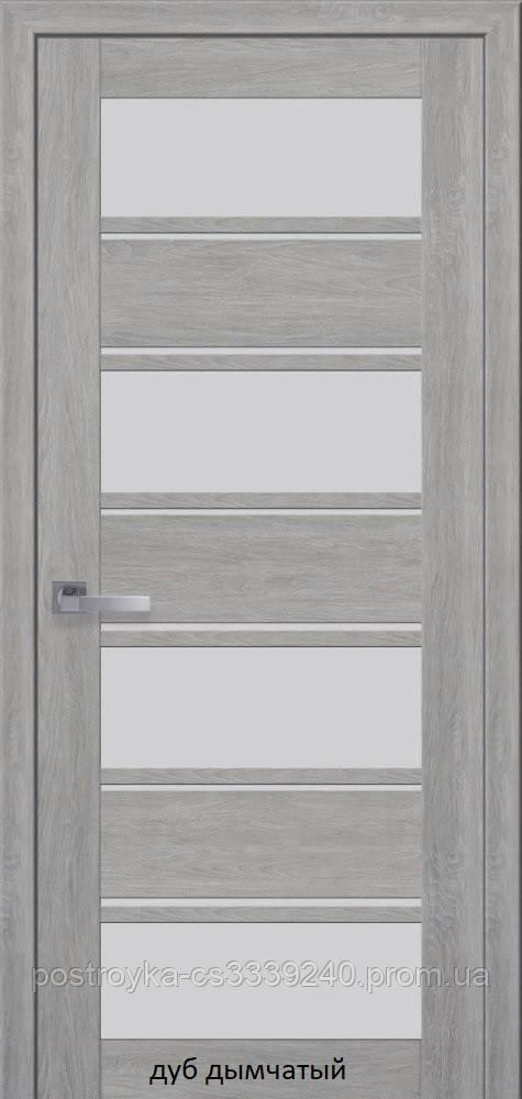 Двери межкомнатные Мода Лилу Новый Стиль ПВХ Ultra со стеклом сатин 60, 70, 80, 90