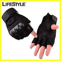 Тактические перчатки с открытыми пальцами Oakley