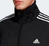 Мужской спортивный костюм Adidas (Адидас) черный с лампасами, фото 2