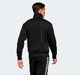 Мужской спортивный костюм Adidas (Адидас) черный с лампасами, фото 3