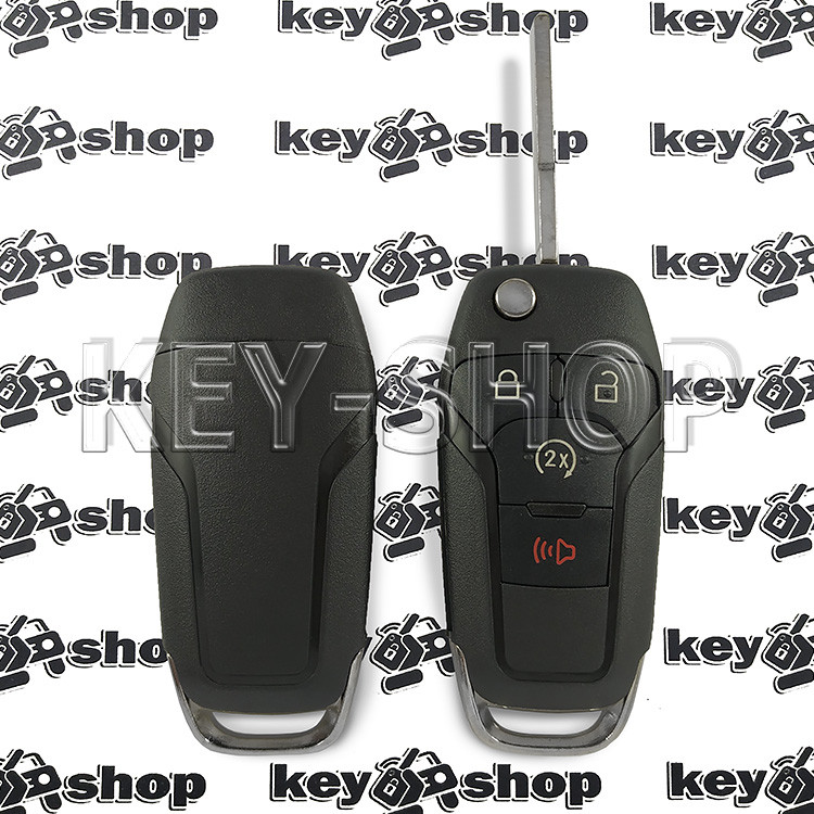 Корпус выкидного авто ключа для Ford F150, F250 (Форд Ф150, Ф250) 3+1 кнопки, лезвие HU101