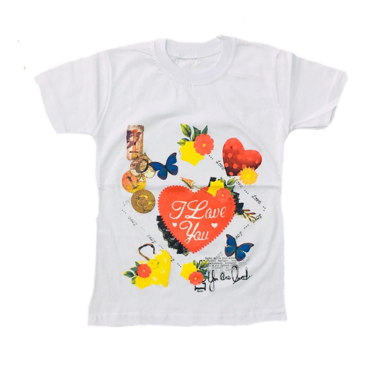 Дитяча футболка для дівчинки, 116см