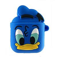 Чехол с карабином для Apple AirPods Disney Design Alitek Duck Blue