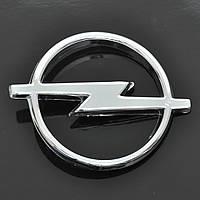 """Эмблема  """"Opel""""  пластик/1 пукля/хром 90х112мм"""