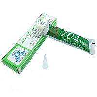 Клей силиконовый 704 герметик термостойкий резина для электроники, белый