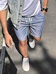 😜 Шорты - Мужские  шорты коттон (голубые) в полоску, фото 3