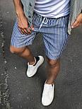 😜 Шорты - Мужские  шорты коттон (голубые) в полоску, фото 2