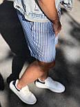 😜 Шорты - Мужские  шорты коттон (голубые) в полоску, фото 5