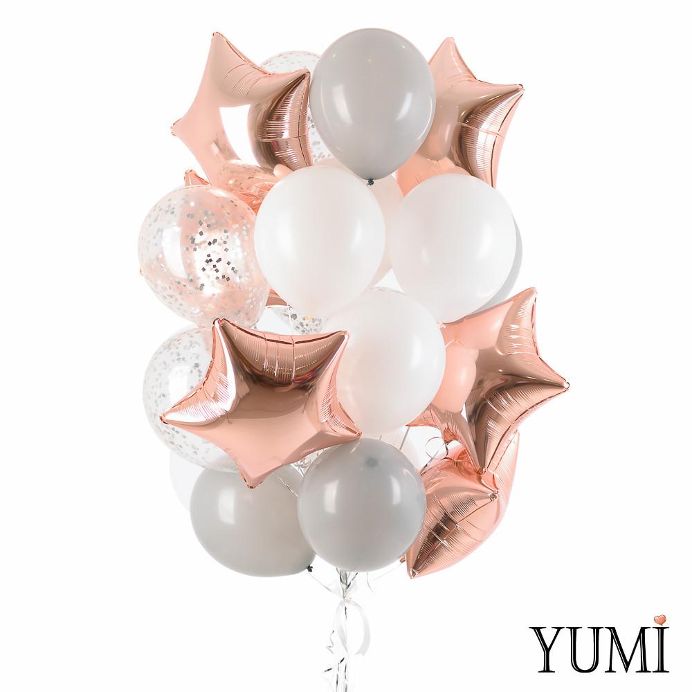 Композиция из воздушных шаров для девушки