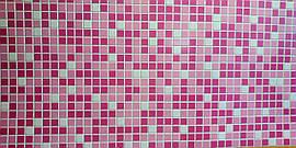 Пластикова листова стінова панель ПВХ Регул Мікс рожевий 0,3мм 956*480 мм