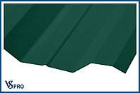 Профнастил кровельный ПК-44, RAL 6005 Цвет Зеленый мох (матовый).