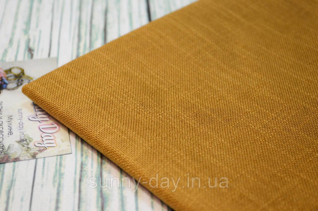 Тканина для вишивки Ubelhor EVA 4042, гірчично-помаранчева - 28 каунт