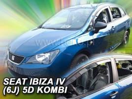 Дефлекторы окон (ветровики)  SEAT IBIZA 5-ДВЕРНЫЙ 2008-2017 КОМБИ 4шт(Heko)