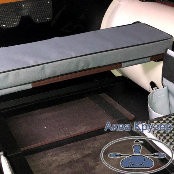 Мягкая накладка 840х200х50 мм на сиденье для надувной лодки ПВХ универсальная, цвет серый