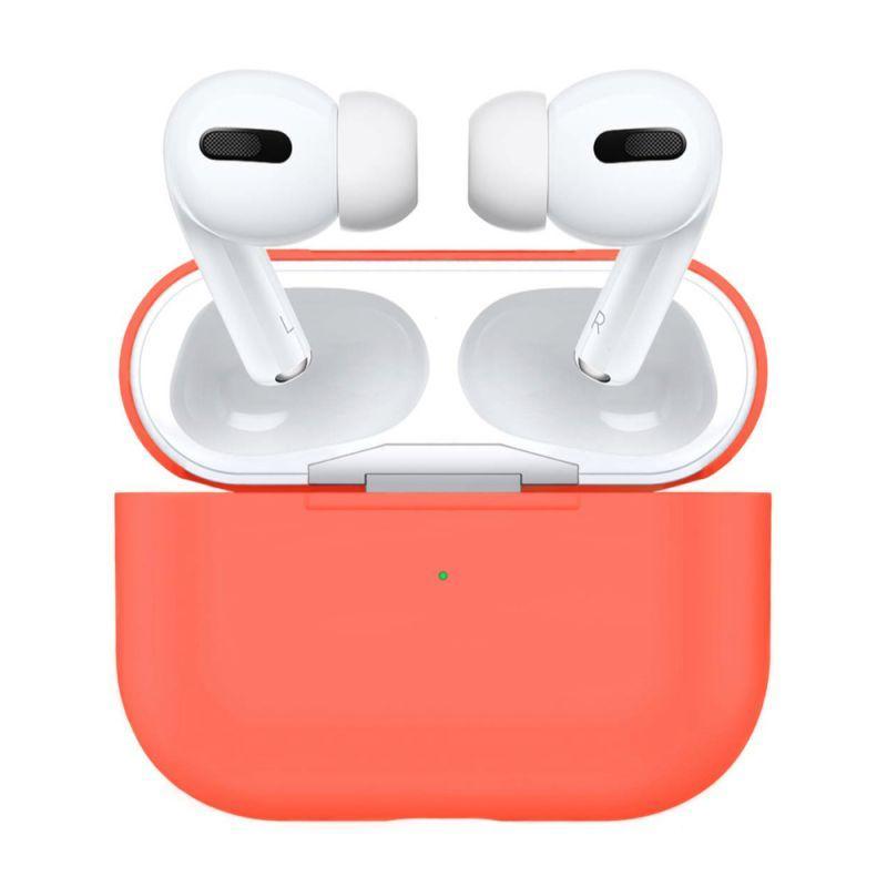 Силиконовый чехол для наушников Airpods PRO/Аналогов (New peach)