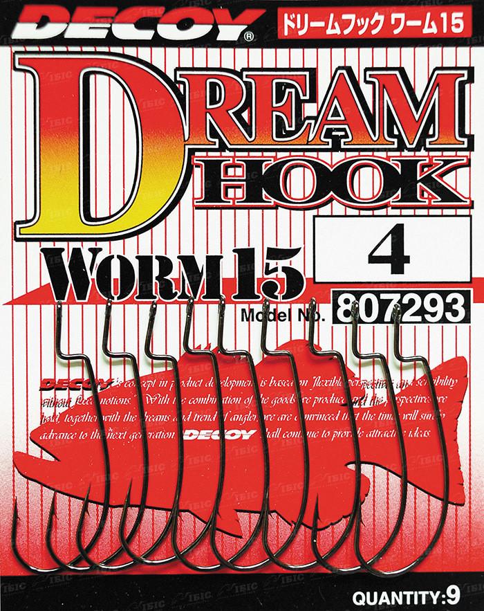 Крючок Decoy Worm15 Dream Hook #8 (9 шт/уп)