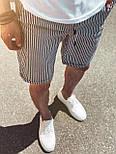 😜 Шорты - Мужские  шорты коттон (серые) в полоску, фото 2