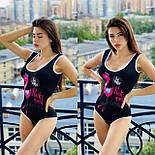 Жіночий відрядний купальник з малюнком фламінго спереду 5625457, фото 3