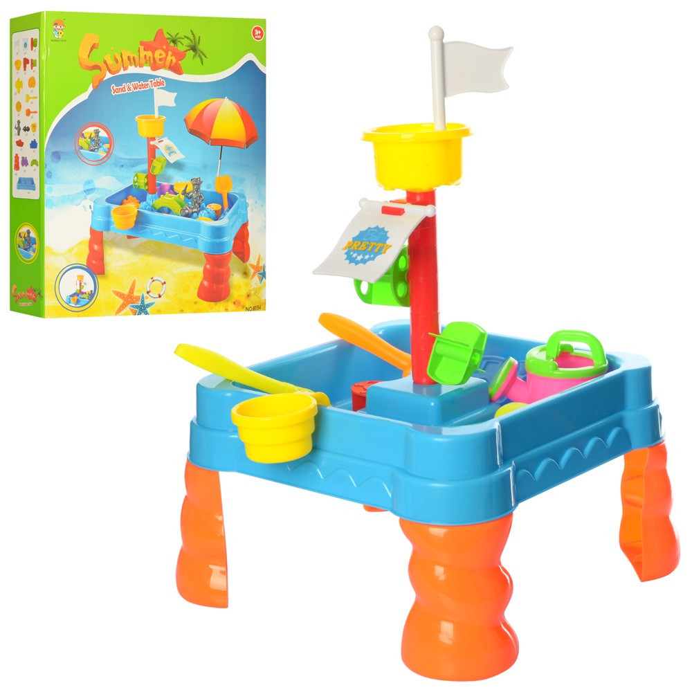 Столик-пісочниця для ігор з піском і водою для дітей від 3 років