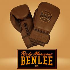 Боксерские перчатки Benlee BARBELLO 12oz, кожа, коричневые