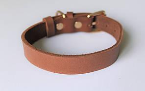 """Кожаный ошейник для собак """"Lockdog"""" светло-коричневый"""